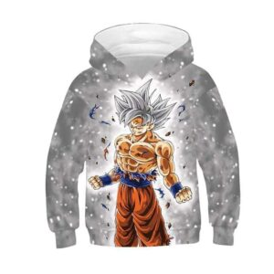 Dragon Ball Z Son Goku In His Ultra Instinct Form Kids Hoodie