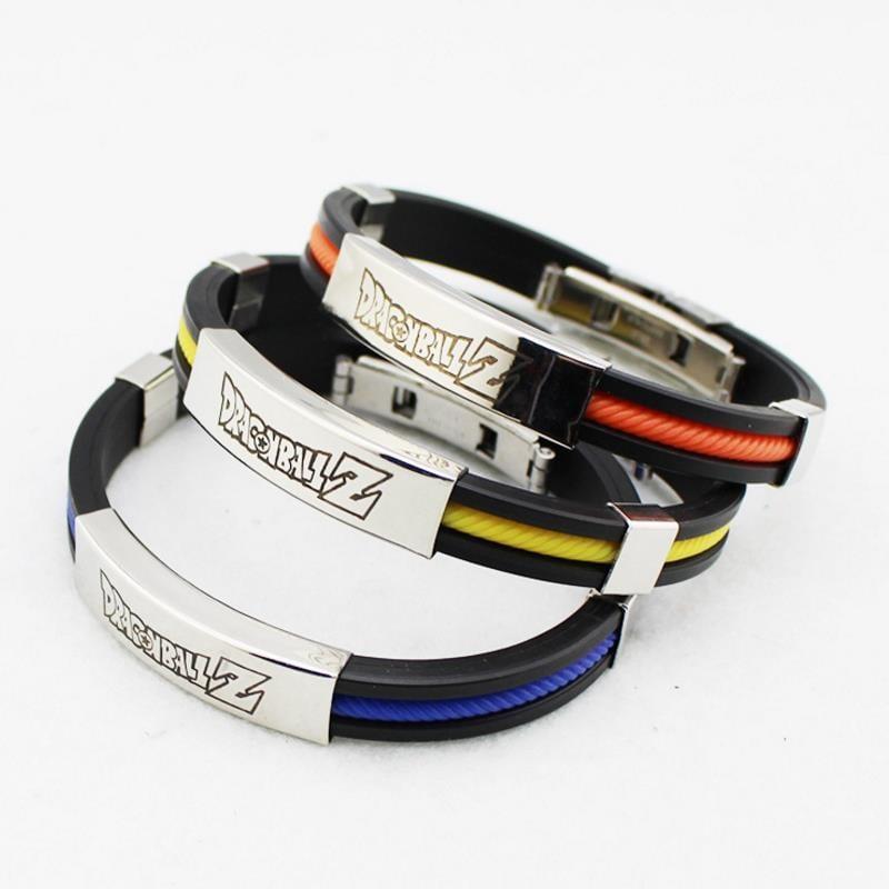 Cute Dragon Ball Z Design Three Color Titanium Bracelet
