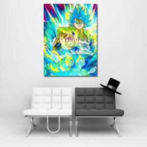 Dragon Ball Z Vegeta Super Saiyan Blue Hair Wall Art Decor