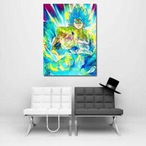 Dragon Ball Z Vegeta Super Saiyan Blue Hair Wall Art Decor
