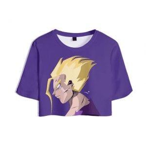 Dragon Ball Z Wounded Super Saiyan Gohan Violet Crop Top
