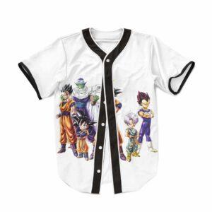 DBZ Super Saiyan Legendary Characters White Baseball Jersey