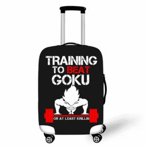 Training To Beat Goku Black Protective Luggage Cover