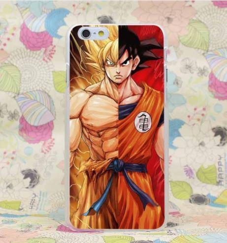 Dragon Ball Goku Dual Portrait Super Saiyan PC iPhone 4 5 6 7 8 Plus X Case