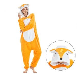 Cheerful Deer Face Hooded Kigurumi Suit Onesie Pajama
