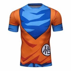 King Kai Training Go Symbol Goku Namek Uniform 3D Gym T-Shirt
