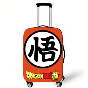 Dragon Ball Super Goku Kanji Orange Luggage Cover