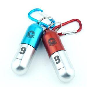 Capsule Corp. Medicine Pill Container Aluminum Case Keychain