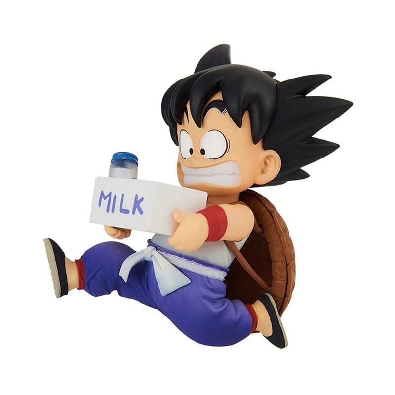 DBZ Running Kid Goku In A Hurry Holding Milk Action Figure