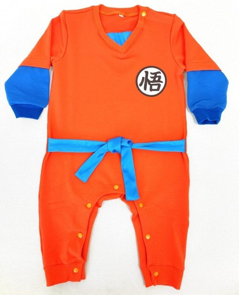 Kanji Logo Designs Comfy Long Sleeve Cosplay Baby Jumpsuit