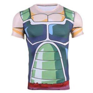 Bardock Saiyan Army Battle Suit Armor 3D Compression T-Shirt