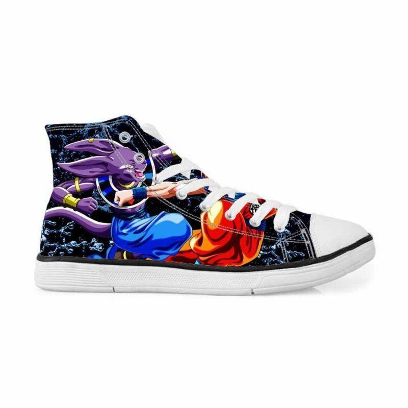 Beerus Destruction God Vs Goku Fight Sneakers Converse Shoes