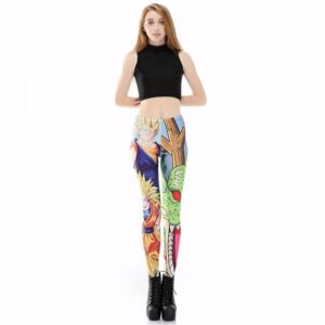 Blue Super Saiyan Goku Shenron Women Compression Fitness Leggings Tights - Saiyan Stuff - 1