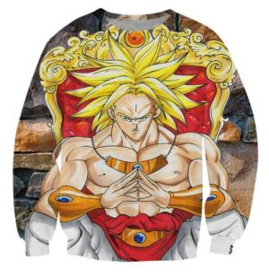 Broly Saiyan King Graphic 3D Stylish Sweatshirt - Saiyan Stuff