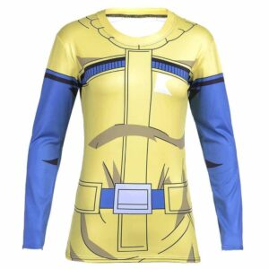 Bulma Travel Fitness 3D Long Sleeves Compression Women T-shirt