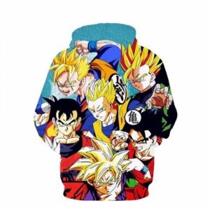 Classic Dragon Ball Z Son Gohan Character Stylish Cool 3D Hoodie - Saiyan Stuff - 2