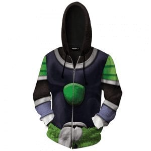 Dragon Ball Z Unbreakable Broly Armor Cosplay Zip Up Hoodie