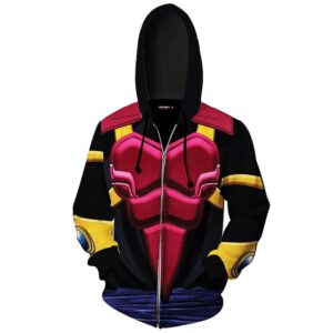 Legendary Armor Suit Super Saiyan Byo Cosplay Zip Up Hoodie
