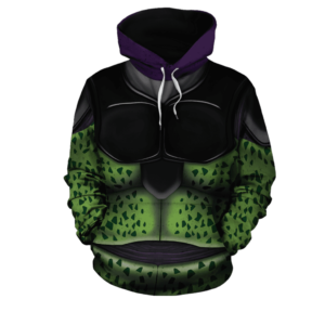 DBZ Classic Body Armor Suit Of Bio-Android Cell Hoodie