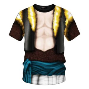 Dragon Ball Z Gogeta Super Saiyan Suit Cosplay T-Shirt
