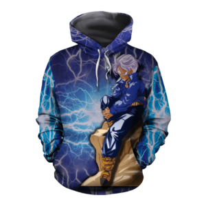 Dragon Ball Z The Legendary Trunks On A Rock Blue Hoodie