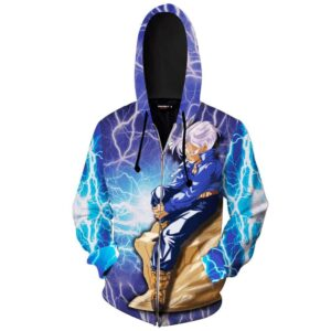 Dragon Ball Z The Legendary Trunks On A Rock Zip Up Hoodie