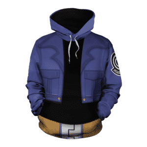 Dragon Ball Z Trunks Inspired Blue Cosplay Stylish Hoodie