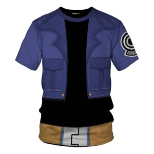 Dragon Ball Z Trunks Inspired Blue Suit Cosplay T-Shirt