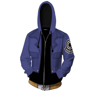 DBZ Trunks Inspired Blue Suit Stylish Cosplay Zip Up Hoodie