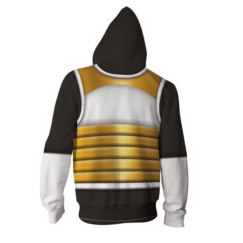 DB Xenoverse 2 Vegeta Black Armor Suit Cosplay Zip Up Hoodie