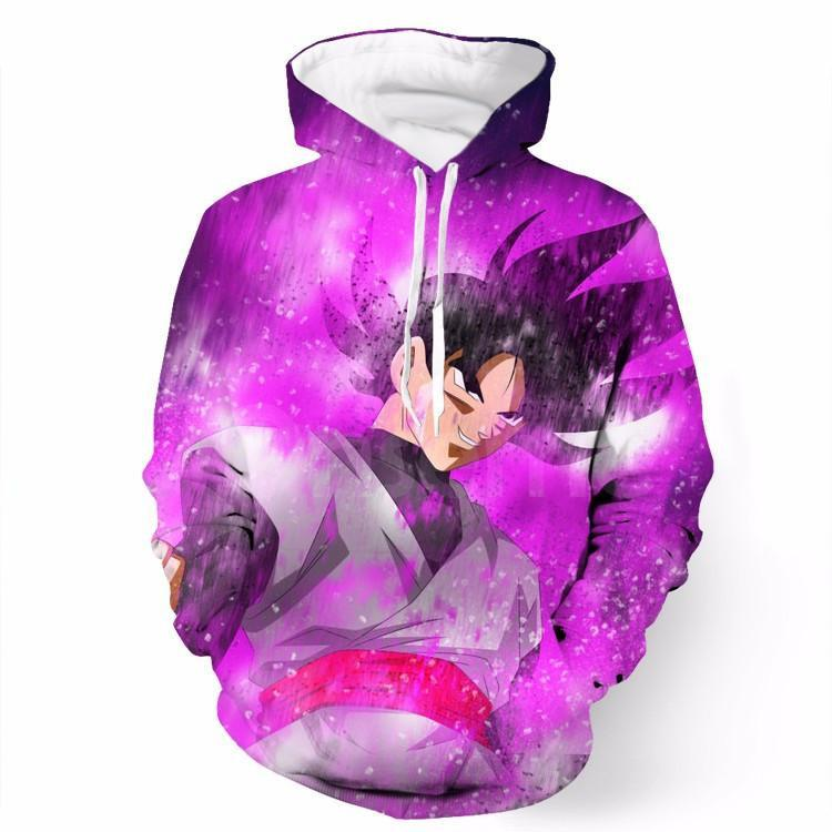 DBZ Black Goku Power Aura Prepare Fighting Cool Design Hoodie - Saiyan Stuff