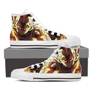 DBZ Burning Majin Vegeta Evil Spirit Saiyan Dope Design Converse Sneaker Shoes