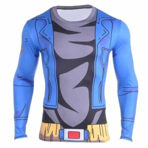 DBZ Cosplay Future Trunks Gear 3D Workout Long Sleeves T-Shirt