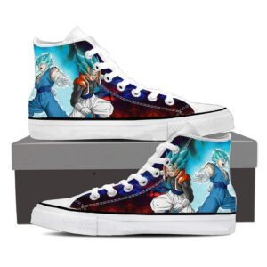 DBZ Gogeta Vegito Super Saiyan Cool Blue Aura Sneaker Shoes