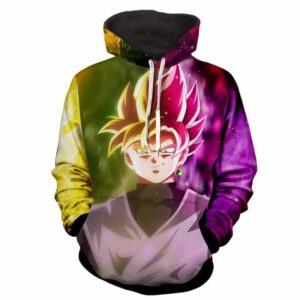 DBZ Goku Combined Super Saiyan and Super Saiyan Rose Hoodie