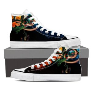 DBZ Kid Goku Bulma Shenron Flying Cool Black Sneaker Shoes