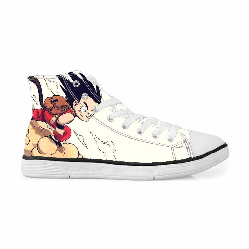 DBZ Kid Goku Flying Nimbus Cloud Classic Sneakers Converse Shoes