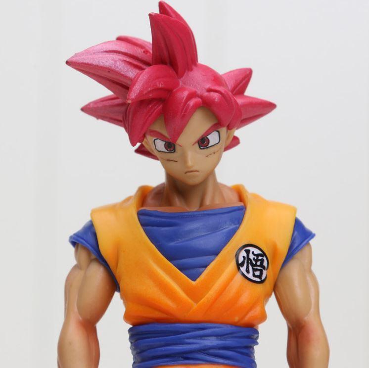 DBZ Son Goku Super Saiyan God Transformation Collectible Action Figure - Saiyan Stuff - 4