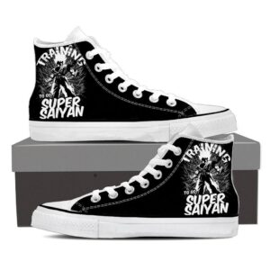 DBZ Son Goku Training To Be Super Saiyan Epic Sneaker Shoes