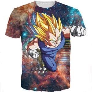 DBZ Super Saiyan Prince Vegeta Space Galaxy 3D T-Shirt - Saiyan Stuff