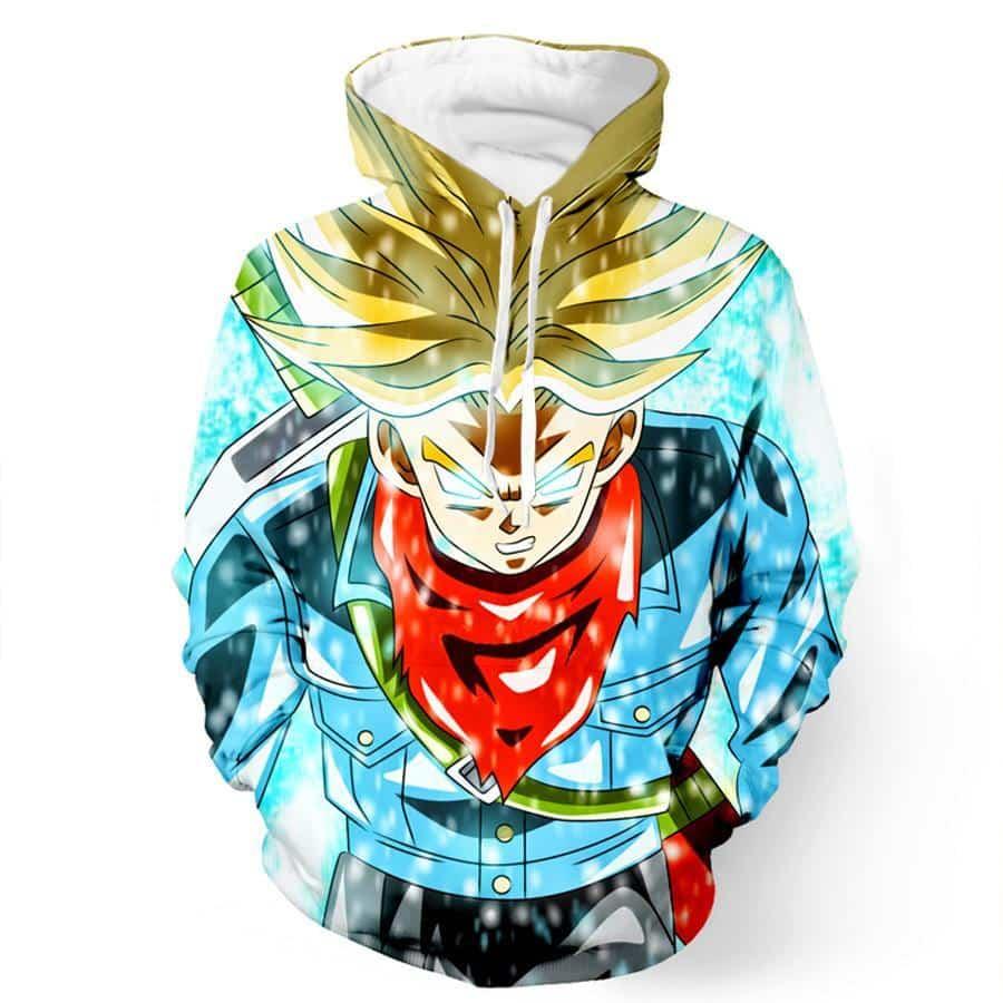 DBZ Trunks Super Saiyan God Blue Power Aura Sword Cool Design Hoodie - Saiyan Stuff