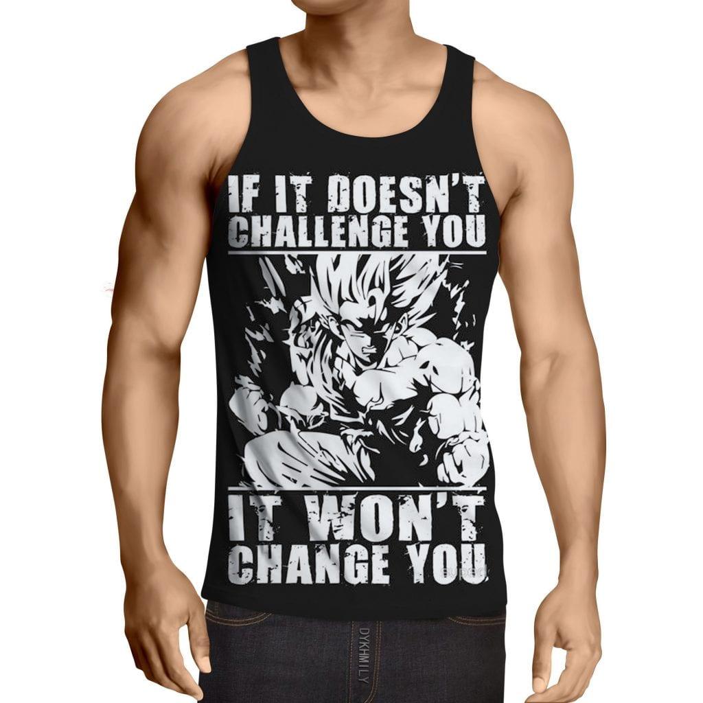 Dragon Ball Goku Super Saiyan Motivation Quotes Tank Top