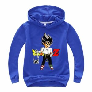 Dragon Ball Z Saiyan Vegeta Black Kids Long Sleeve Hoodie