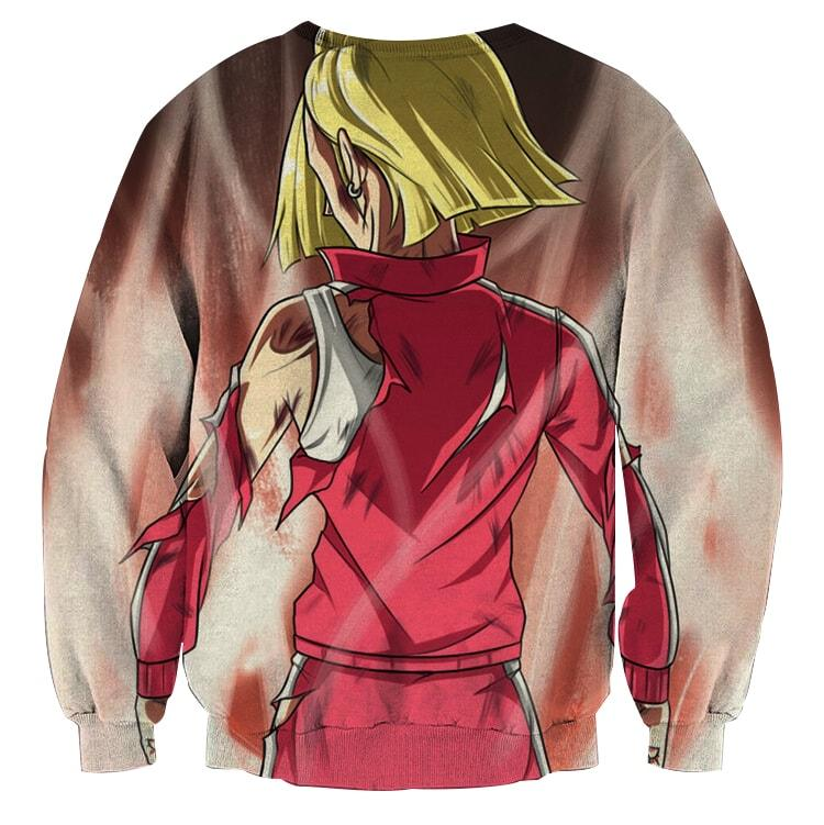 Dragon Ball Android 18 Ultra Instinct Epic Back View Sweater