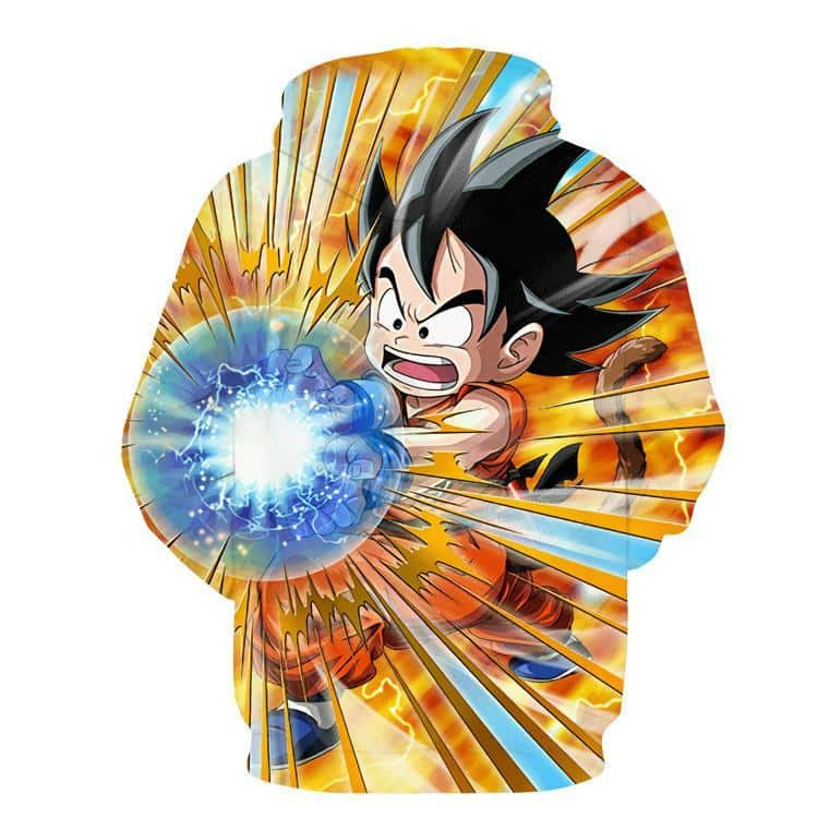 Dragon Ball Cute Goku Kid Kamehameha Awesome Trending Design Hoodie