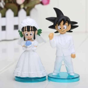 Dragon Ball Goku Chi-Chi Wedding PVC Figure Toys 8cm 3inch Set 2Pcs - Saiyan Stuff