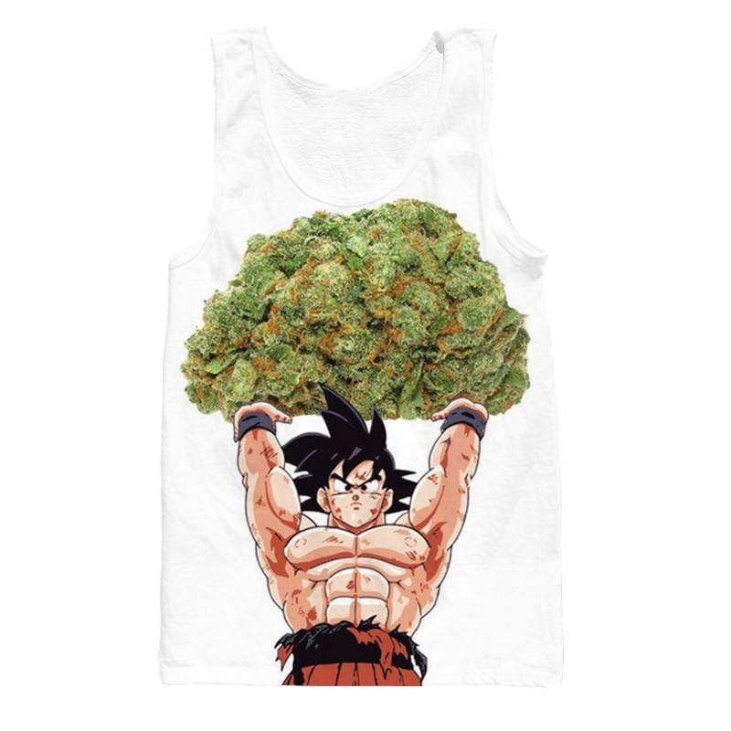 Dragon Ball Goku Ganja Weed Marijuana Spirit Bomb Tank Top - Saiyan Stuff