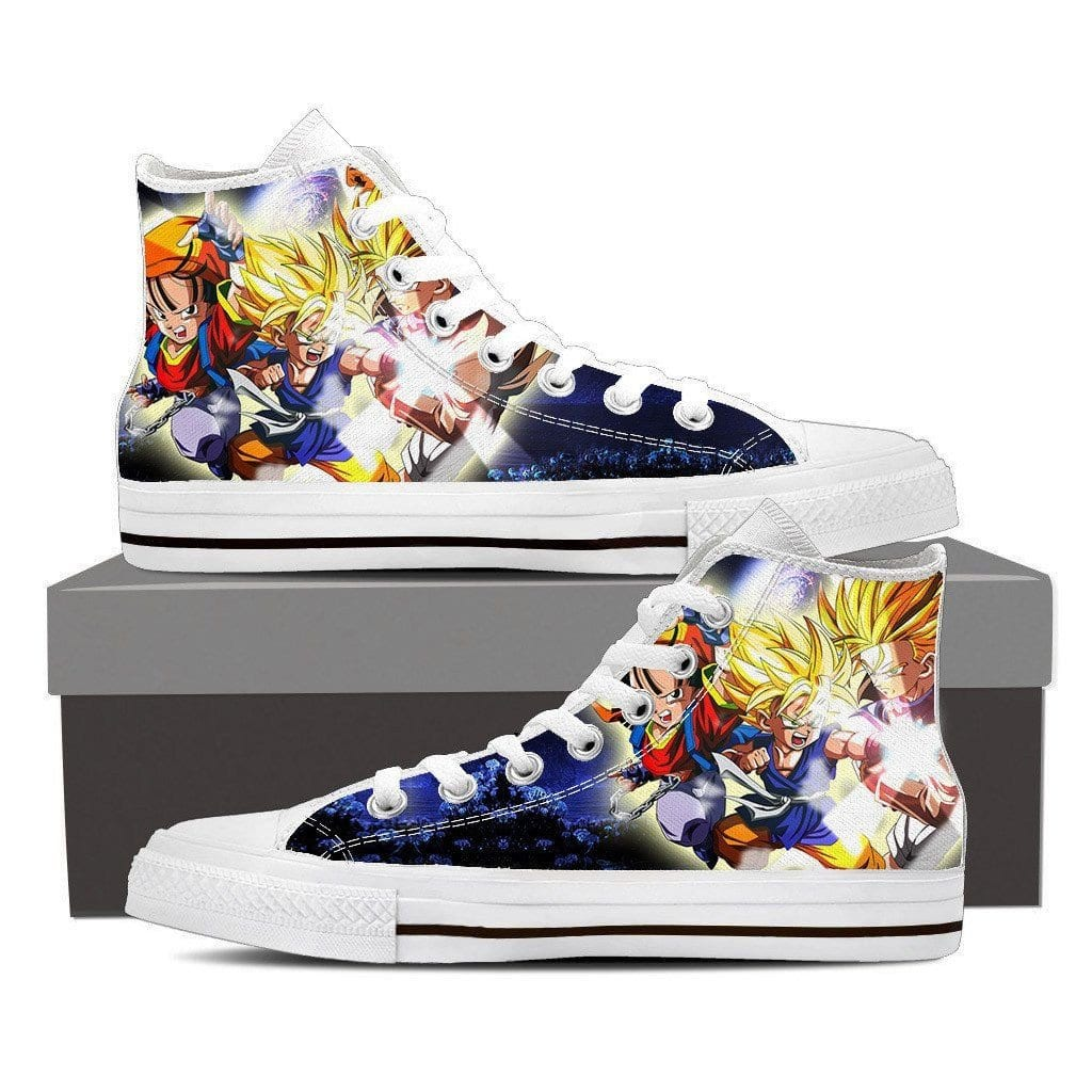 Dragon Ball Goku Kid Super Saiyan Fan Art Theme Casual Wear Sneaker Shoes