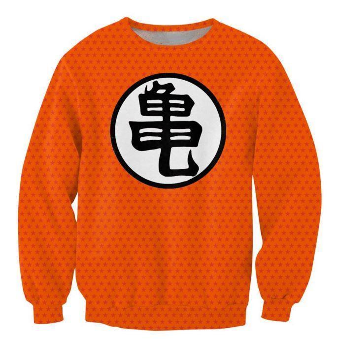 Dragon Ball Goku Master Roshi Stars Pattern Crewneck Sweatshirt - Saiyan Stuff