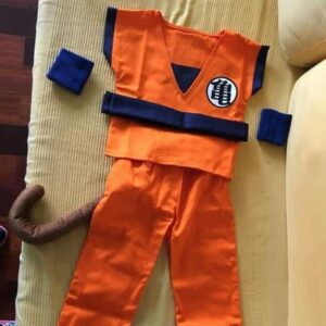 Dragon Ball Goku Saiyan Kid Training Uniform Symbol Cosplay Costume - Saiyan Stuff